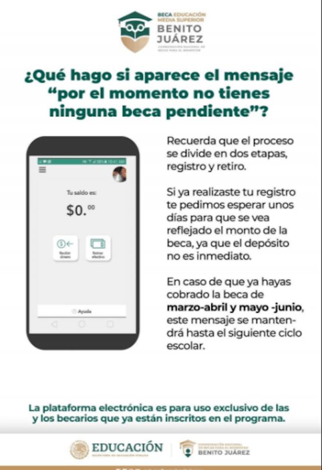 Becas Benito Juárez en Michoacán (Imagen: Twitter @BenitoBecasMich)