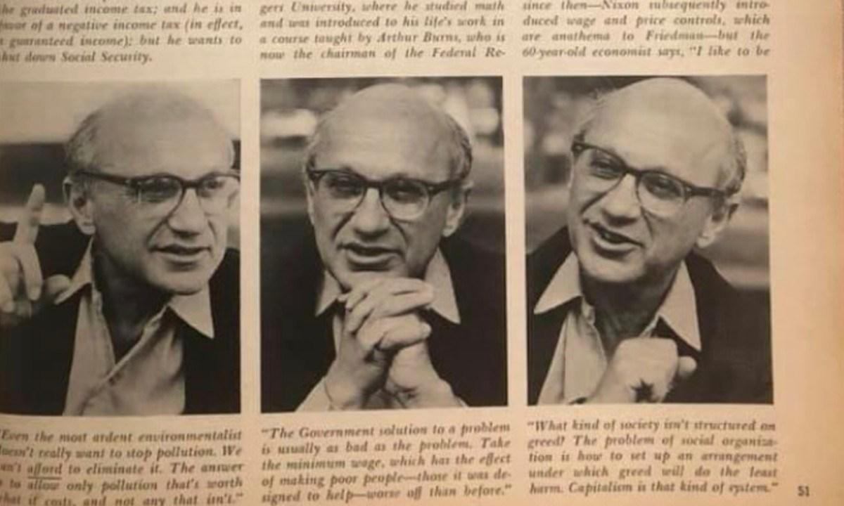 Milton Friedman, premio nobel de Economía (Imagen: Twitter @InconformeRD)