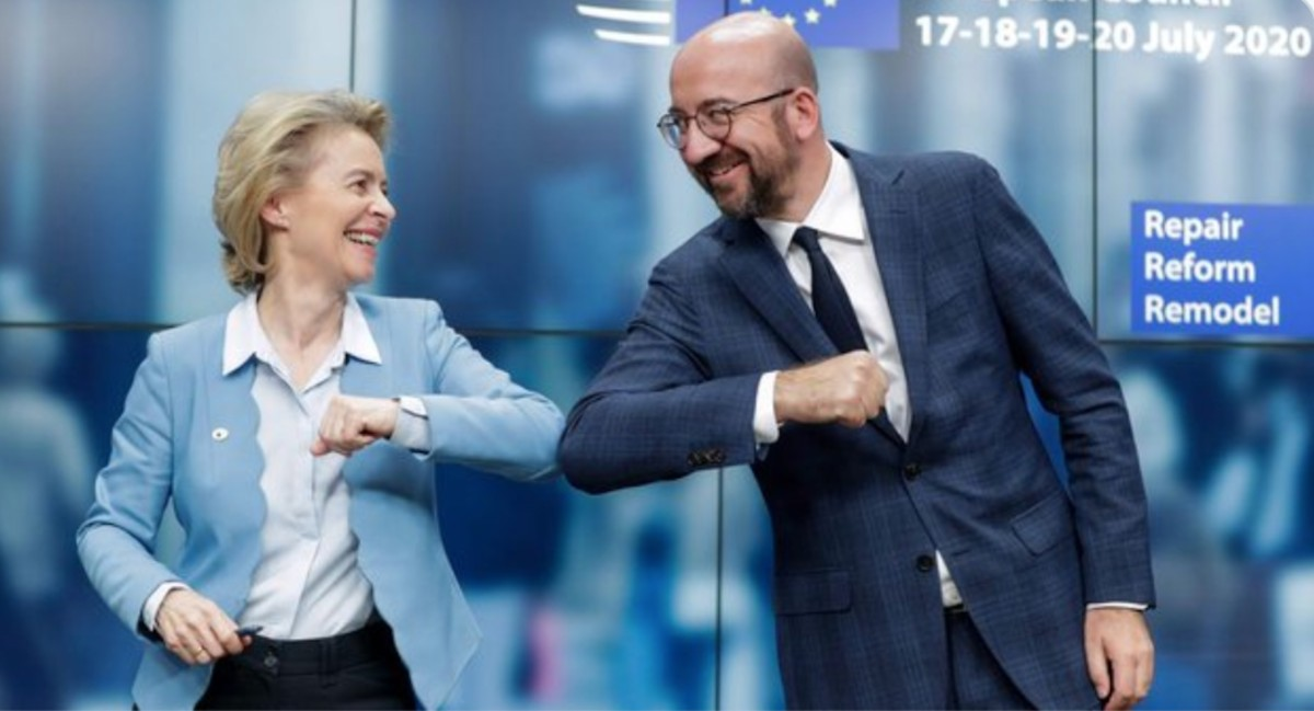 Líderes de la Unión Europea (Imagen: Twitter @WSJecon)