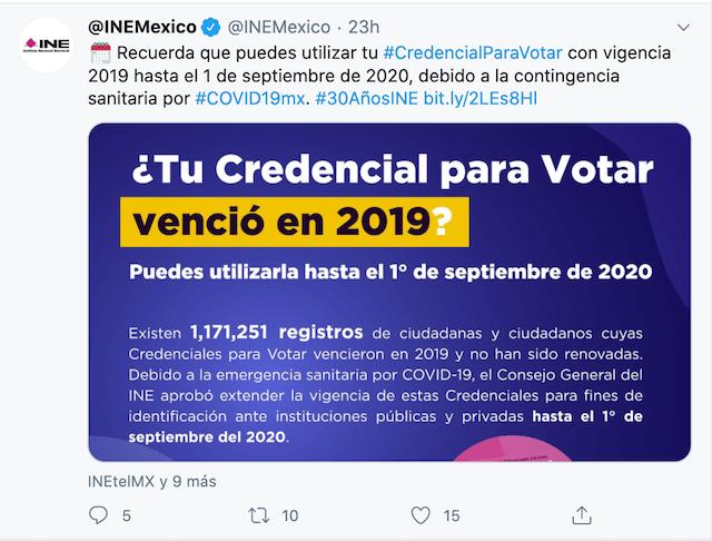 Credencial Vencida, Renovación de Credencial, INE, Trámites