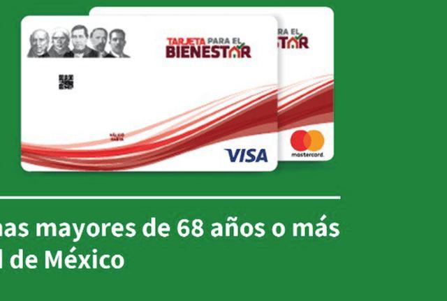 Adultos mayores y su tarjeta para el Bienestar (Imagen: Twitter @GobCDMX)