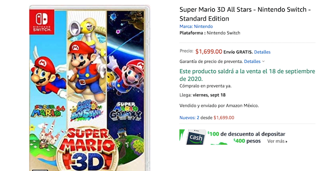 Super Mario 3D All-Stars (Imagen: Amazon)