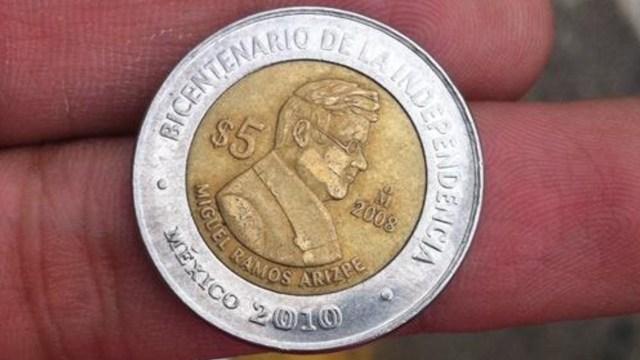 Moneda de 5 pesos conmemorativa del Bicentenario tiene un precio de más mil pesos