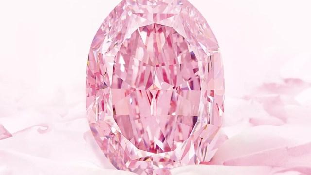 """Diamante rosa """"El espíritu de la rosa"""" (Imagen: Sotheby's)"""