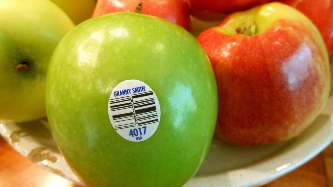 Esto es lo que significan los códigos de barras en la fruta