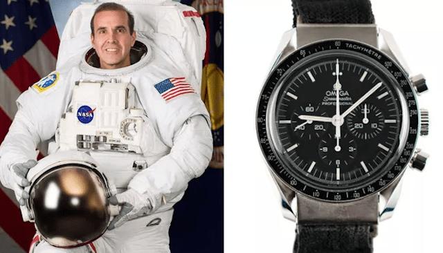 """El """"moonwatch"""" de Rick Mastracchio, que pasó 188 días con él a bordo de la ISS, está a subasta (Imagen: Omega)"""