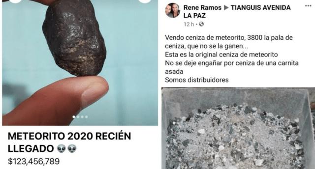 Rocas las ofrecen como restos de meteorito de Tamaulipas (Imagen: Facebook)