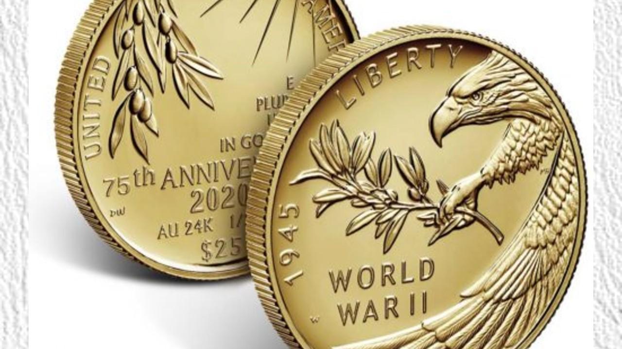 Moneda de oro de 75 años de la Segunda Guerra Mundial (Imagen: coinnews.net)