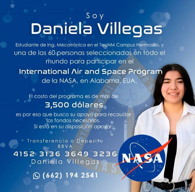 Pide apoyo una mexicana para poder ir a la NASA