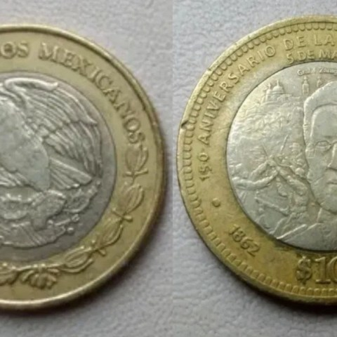 moneda diez pesos