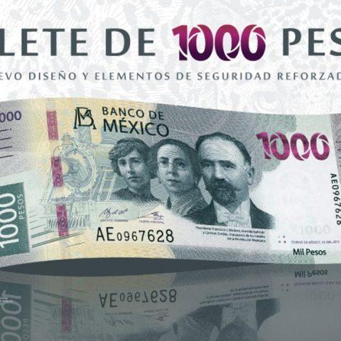 nuevo billete 1000 pesos