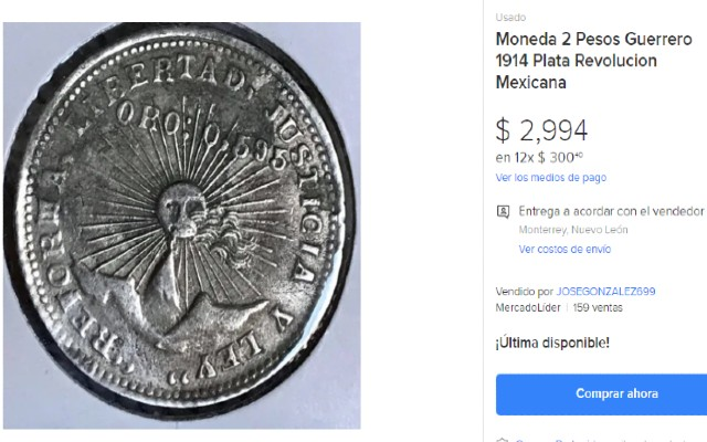 Esta es la moneda de 2 pesos que se vende en casi 3 mil pesos