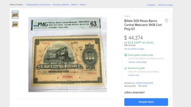 Billetes mexicanos antiguos