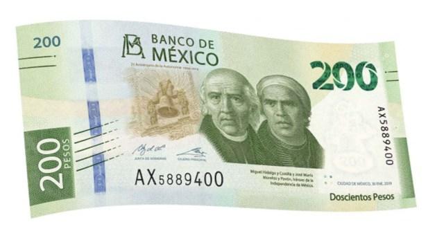 Billetes mexicanos en circulación