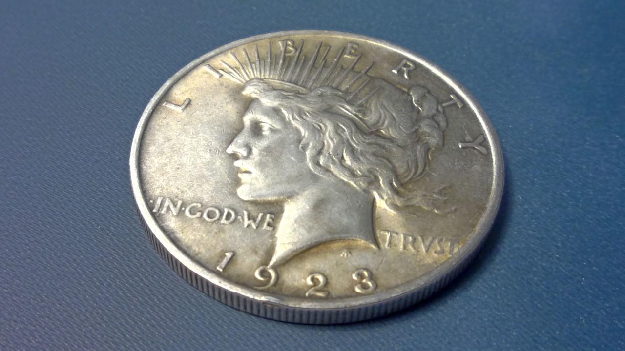 moneda de dólar Peace Silver Dollar que se oferta a más de 2 mil pesos