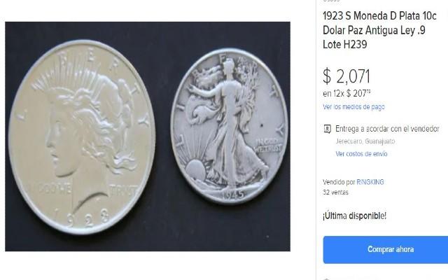 Este es el Peace Silver Dollar que se vende en más de 2 mil pesos