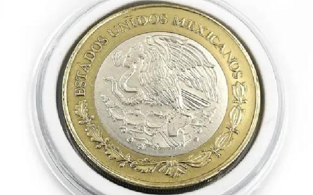 Este es el anverso de la moneda de 50 pesos