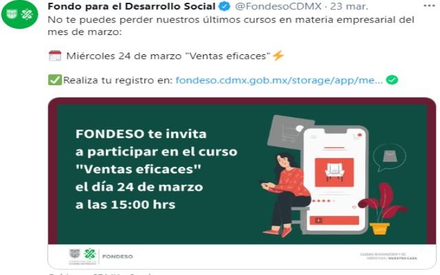 Fondeso también ofrece cursos para empresarios