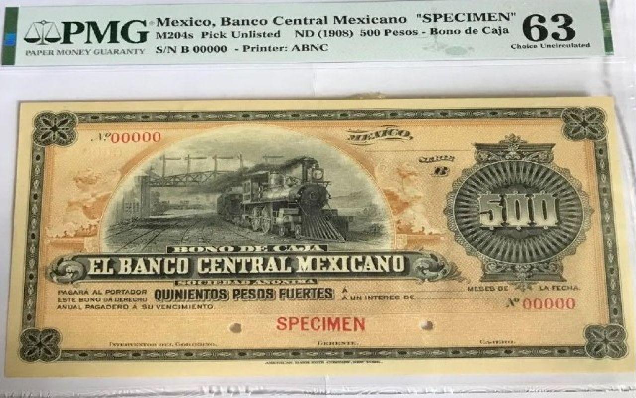 Billete de 500 pesos antiguo