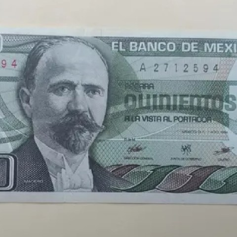 Billete de 500 pesos se vende en 40 mil pesos
