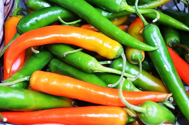 El chile verde es una de las verduras de temporada