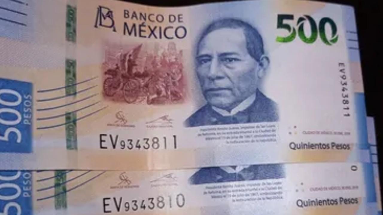 Esta serie de billetes de 500 pesos se vende en casi 20 mil pesos