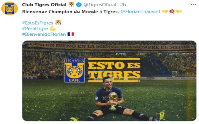 Tigres así le dio la bienvenida a Florian Thauvin