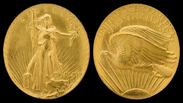 moneda de 20 dólares Double Eagle de 1933 que resultó ser la más cara del mundo