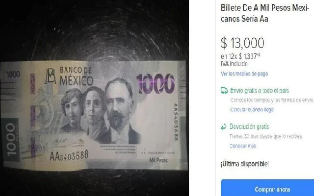 Este es el otro papel moneda de mil pesos que se vende en 13 mil pesos