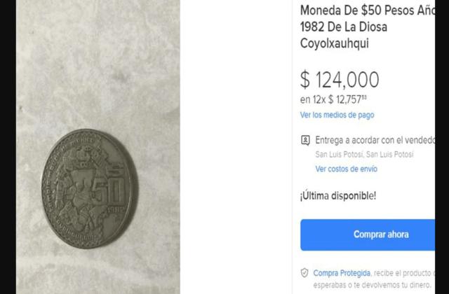 Moneda de la Coyolxauhqui