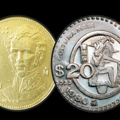 moneda de 20 pesos Guadalupe Victoria