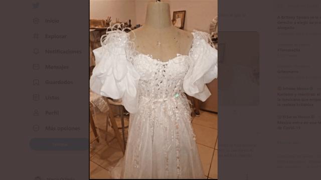 estafa vestido de novia