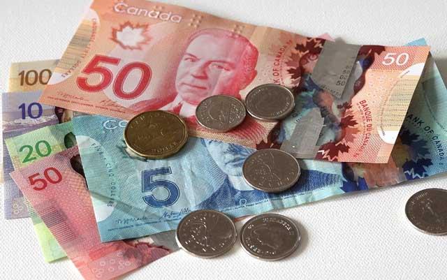Cotización de dólar canadiense