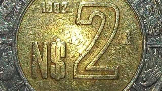 Esta moneda de dos pesos que, aunque nos parezca tan común, se vende en internet a 5 mil pesos