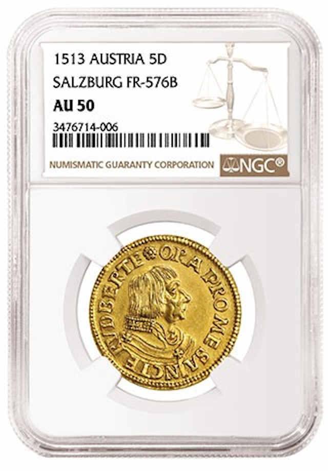 Venden moneda de 20 libras de 1576 en 180 mil dólares