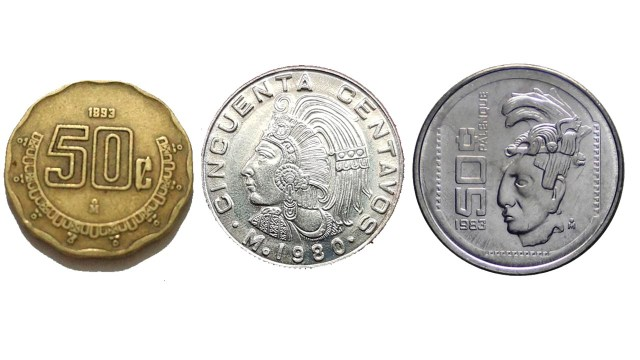 Monedas de 50 centavos