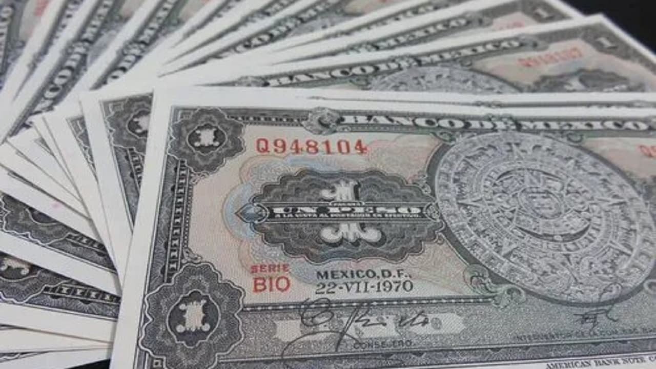 Así era el billete de 1 peso mexicano