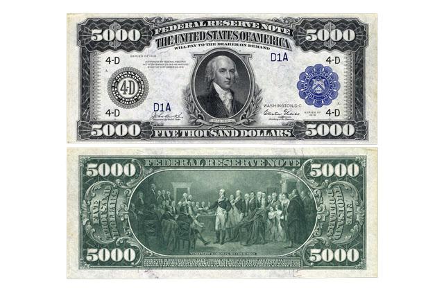 Cotización dólar de 5000