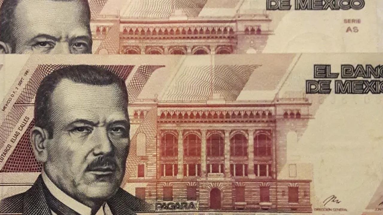 Este billete mexicano es de más alta denominación