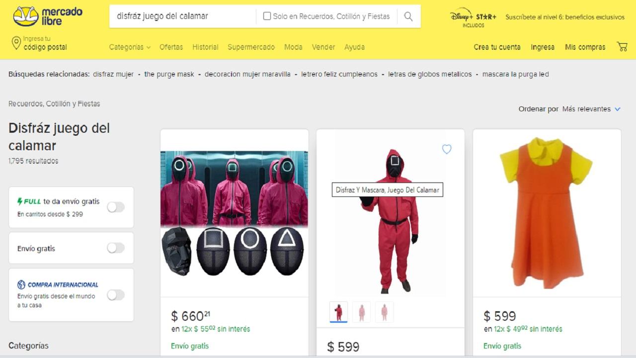 Así puedes comprar un disfraz de El Juego del Calamar