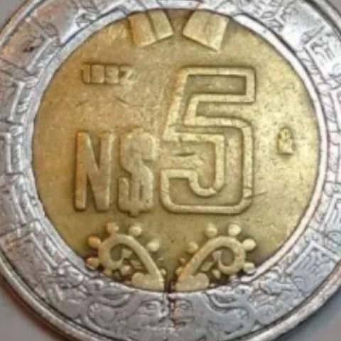 Moneda de 5 en 18 mil pesos.