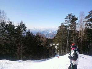山頂より上州武尊と岩鞍ゲレンデ