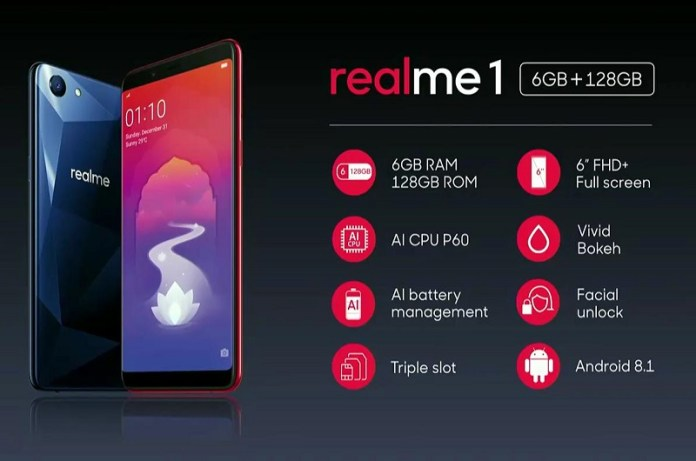 Smart Phone Oppo Realme 1 less the 10000 rupees