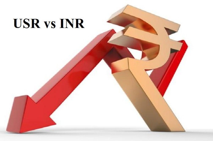 india rupees falling against usd,