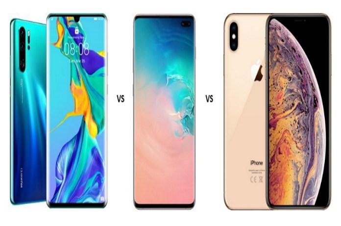 Huawei P30 vs Samsung Galaxy S10 vs iPhone XS