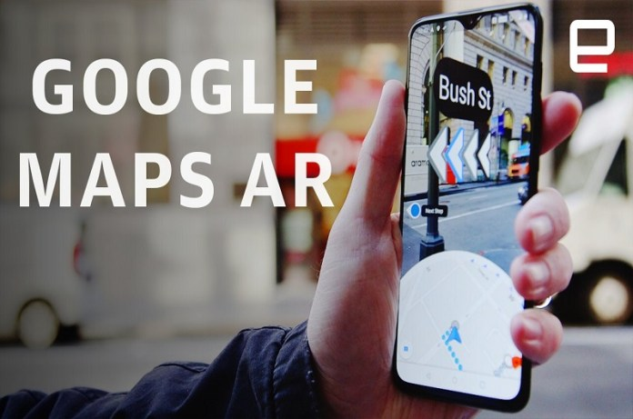 Google Maps AR Live Walking Directions