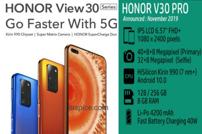Honor V30 and V30 Pro Smartphone Specifications