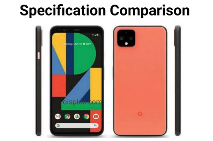 google pixel 4 and pixel 4 xl Specification Comparison