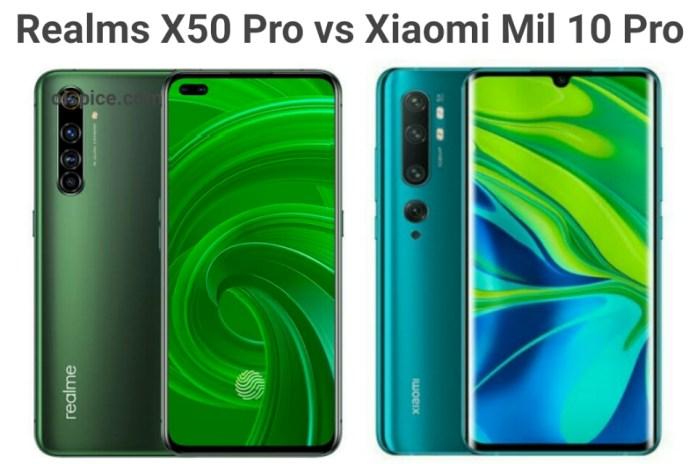 Realme X50 Pro 5G vs Xiaomi Mi 10 Pro 5G