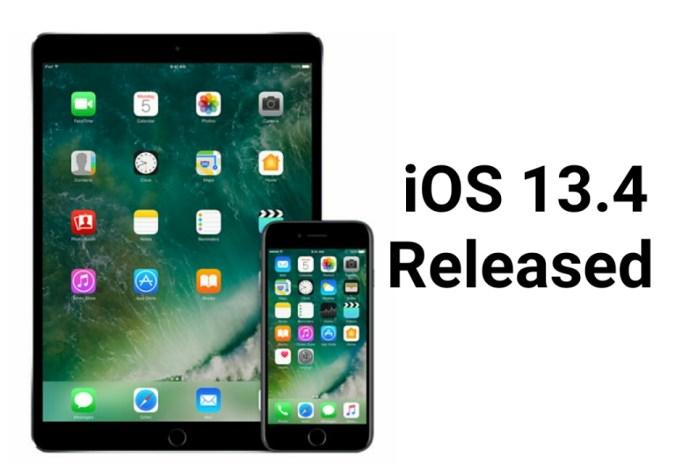 Apple iOS 13.4 Released